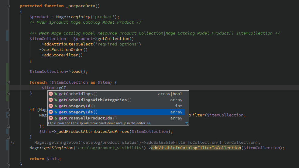 PHP Magento syntax
