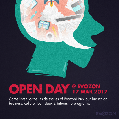 open day banner evozon career opportunity